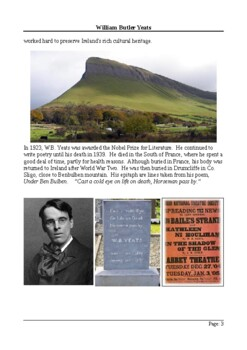 W.B.Yeats Biography - Reading Comprehension with Different