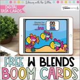 W Blends BOOM Cards | Digital Task Cards | Distance Learni