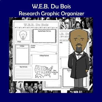 W.E.B. Du Bois Biography Research Graphic Organizer
