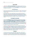 W.E.B. Dubois Article and Timeline Worksheet