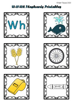 W - H - Wh Flash Cards for Memory or Sorting