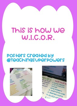 W.I.C.O.R Posters