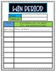 W.I.N ( WHAT I NEED) Tracking Sheet-Student + Teacher