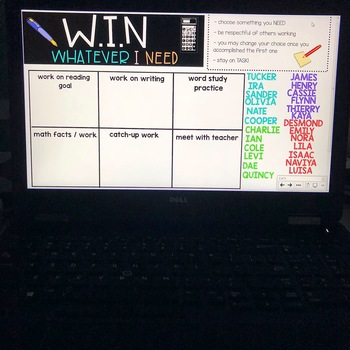 W.I.N Whatever I Need Editable Smartbook Slide