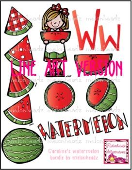 W clip art - LINE ART - by Melonheadz