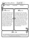 W.O.R.D. Bible Note Taking Organzier