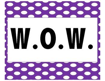 W.O.W. Classroom Poster