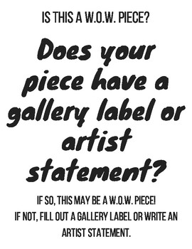 W.O.W. Piece Art Poster Set