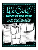 W.O.W Words of the Week to read & memorization, spelling words, spanish