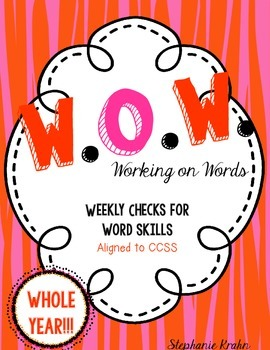 W.O.W.  - Working on Words   (Weekly Language Review) - WHOLE YEAR