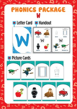 'W' Phonics Resource Package