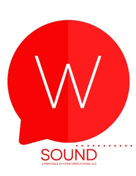 W Sound Printable Flashcards