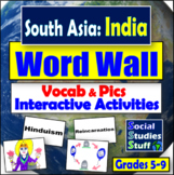 Word Wall : South Asia with Game / Activity Ideas