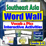 Word Wall : Southeast Asia with Game / Activity Ideas