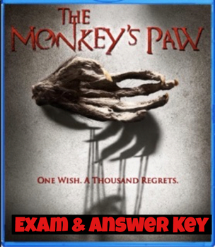 "W.W. Jacobs' ""The Monkey's Paw"" Quiz 60 Mult. Choice Ques w/ Answer Key)"