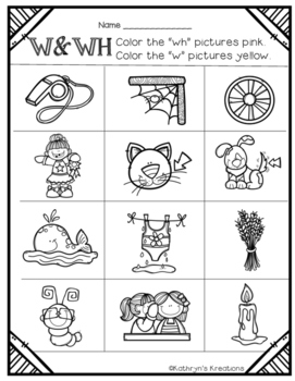 W and WH: Color The Picture