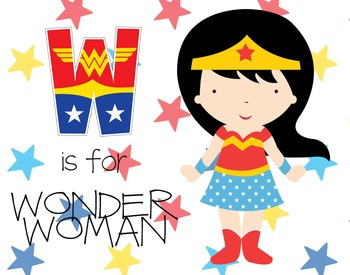 W is for WONDER WOMAN poster