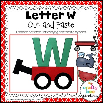 Letter W (Wagon) Cut and Paste