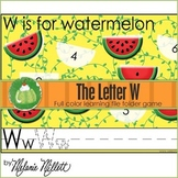 W is for Watermelon File Folder Game