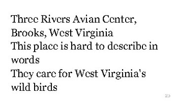 W is for West Virginia flash cards