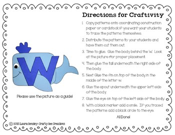 W is for Whale Cut and Paste