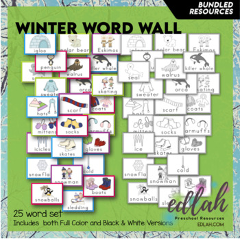 W is for Winter Themed Preschool Lesson Plans (TWO weeks curriculum)