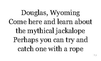 W is for Wyoming flash cards