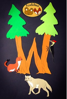 W is for the Woods~ Letter W Art