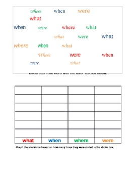 """""""W"""" site word activity sheet"""