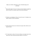 3rd grade test prep worksheets (word problems)  1, with an