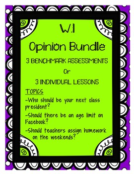 W.1 Opinion Writing Bundle