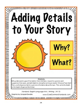 W.1.5 First Grade Common Core Worksheets, Activity, and Poster