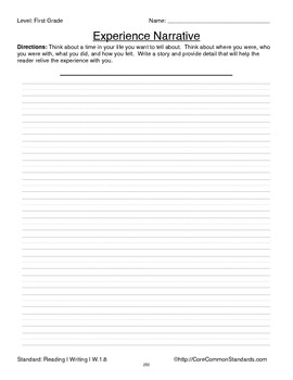 W.1.8 First Grade Common Core Worksheets, Activity, and Poster