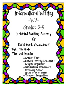 W.2 Informational Writing Benchmark