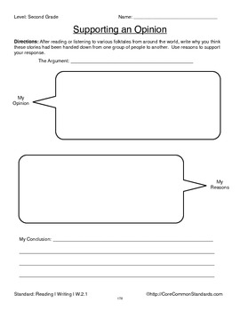 W.2.1 Second Grade Common Core Worksheets, Activity, and Poster