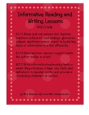 W.2.2, RI.2.5 Informative Writing, Text features, Informat
