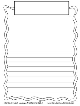 W.2.2 Second Grade Common Core Worksheets, Activity, and Poster