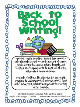 W.2.3 Second Grade Common Core Worksheets, Activity, and Poster