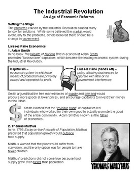 W25.4 - Industrial Revolution Economics - Guided Notes (Blank & Filled-In)