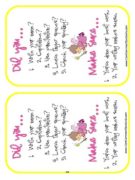 W.2.6 Second Grade Common Core Worksheets, Activity, and Poster