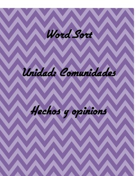 W3.1 Spanish Fact and Opinion Sort