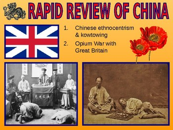 W30.3 - Collapse of Chinese Imperial Rule - PowerPoint Notes