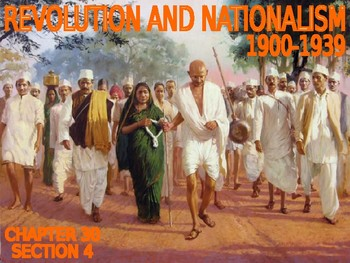 W30.4 - Nationalism in India - PowerPoint Notes