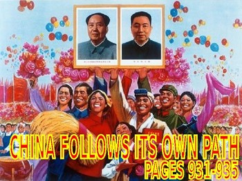 W35.5 - China Follows Its Own Path - PowerPoint Notes