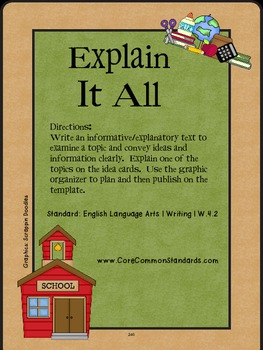 W.4.2 Fourth Grade Common Core Worksheets, Activity, and Poster