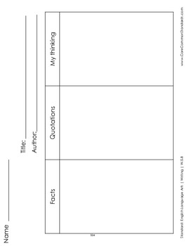 W.5.8 Fifth Grade Common Core Worksheets, Activity, and Poster