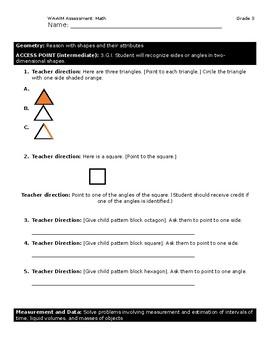WA-AIM Math Assessment [Grade 3]