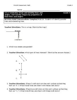 WA-AIM Math Assessment [Grade 4]