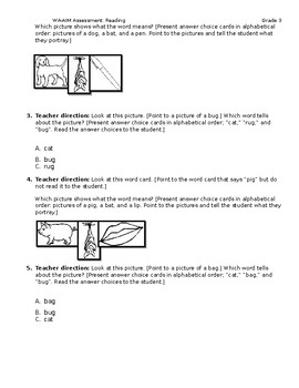 WA-AIM Reading Assessment [Grade 3]