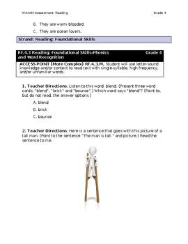 WA-AIM Reading Assessment [Grade 4]